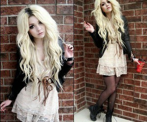 dress, blonde, and outfit image