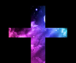 cross, good friday, and space image