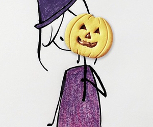 Halloween and violet image
