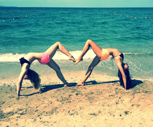awesome, beach, and friend image