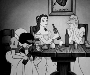 princess, disney, and drunk image