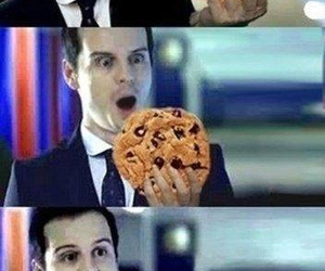 sherlock, moriarty, and cookie image