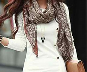 fall, fashion, and scarf image