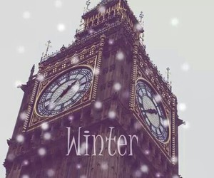 winter, london, and snow image