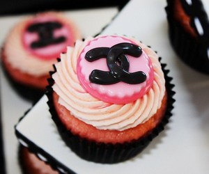 chanel, cupcake, and pink image