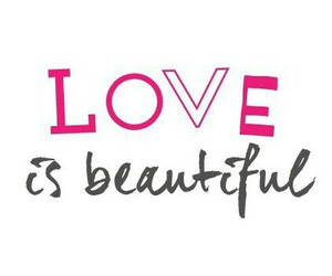 love beautiful pink motto image
