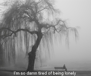 lonely and sad image