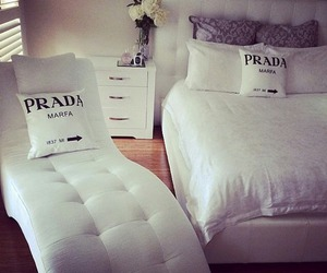 Prada, bedroom, and room image
