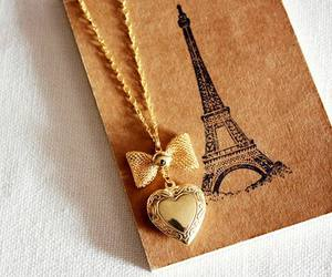 paris, heart, and necklace image