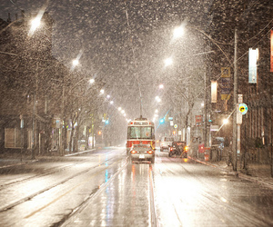 canada, snow, and street image