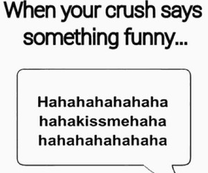 crush, funny, and kiss image