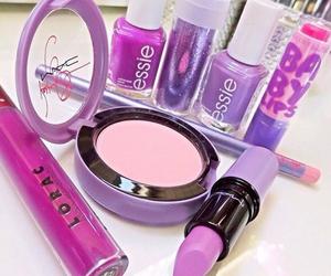 purple, makeup, and lipstick image