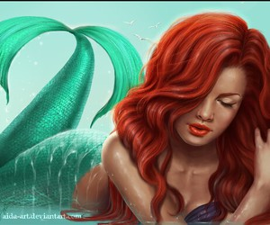 ariel, disney, and red hair image