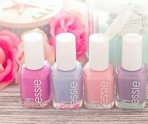girly, nails, and essie image