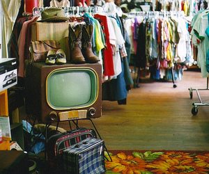 vintage, clothes, and tv image