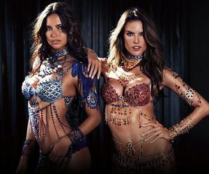 Adriana Lima, alessandra ambrosio, and Victoria's Secret image