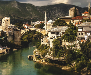 bridge, mostar, and travel image