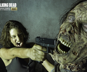 Maggie, Walker, and twd image