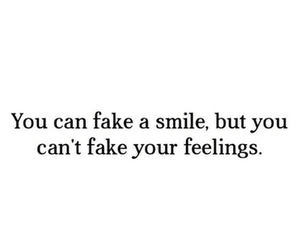 smile, fake, and feelings image