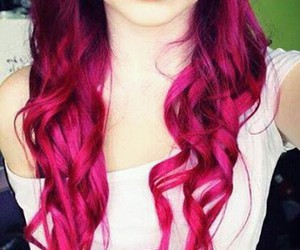 hair, pink, and lips image