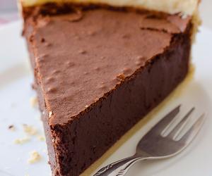 food, chocolate, and pie image