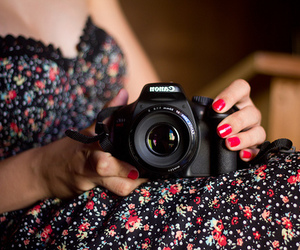 camera, canon, and dress image