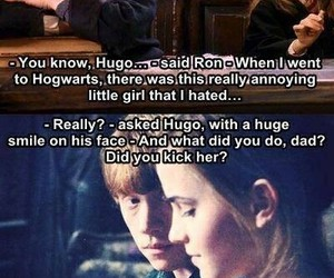 harry potter, love, and ron and hermione image