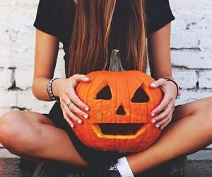 Halloween, pumpkin, and girl image