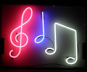 neon, music, and note image