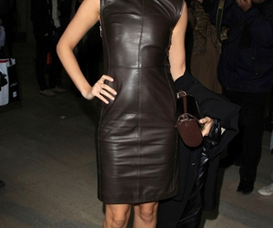 lbd, nicole richie, and leather dress image