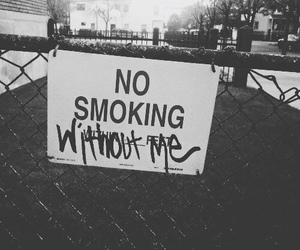 smoking, smoke, and black and white image