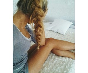 atumn, blond, and braided image