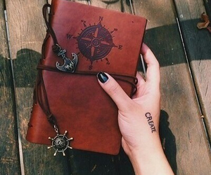 book, nails, and hand image