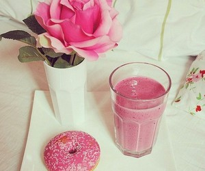donuts, rose, and pink image