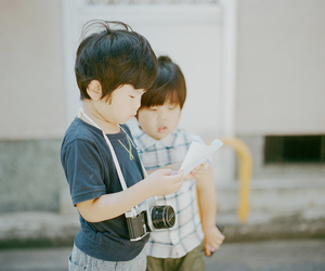 beautiful, camera, and kids image