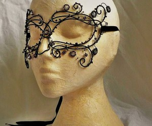 beads, fantasy, and mask image