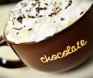 chocolate, cream, and cup image