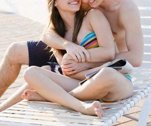 2, couple, and hanging out image