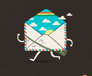 Letter and rainbow image