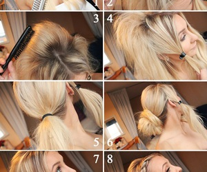 tutorial, hair tutorial, and girl image