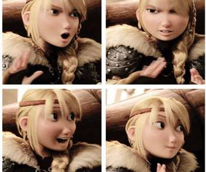 astrid, toothless, and berk image