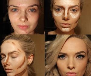 beauty, blonde hair, and makijaż image