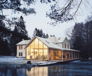 house, nature, and winter image