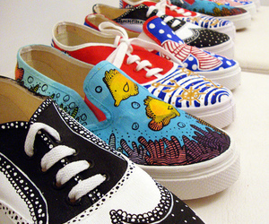 fashion, painted shoes, and cute image