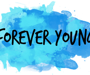 blue, Forever Young, and tumblr image