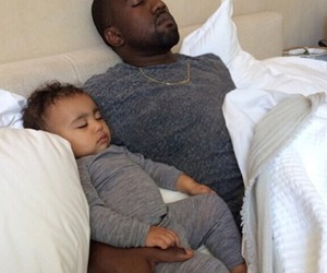 kanye west, north west, and baby image