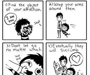 cuddle, funny, and comic image