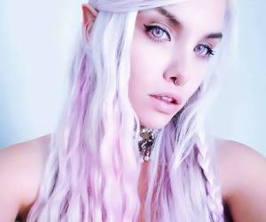alt girl, dyed hair, and elf image