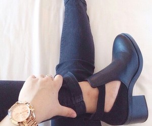 ankle boots, edgy style, and chunky boots image
