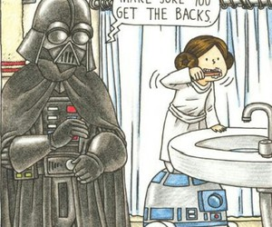 darth vader, father, and star wars image